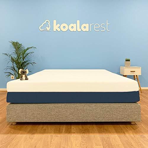 Colchón Koala Latex+viscoelastica 150x190 cm, a la Medida, Firmeza y Aislamiento Movimiento, 25 cm Grosor. Adaptable y Transpirable.