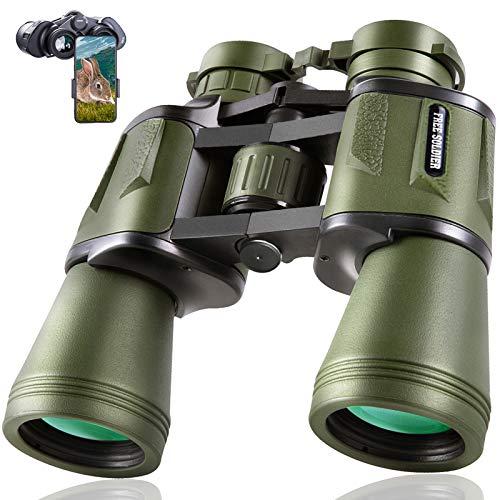 20x50 Jagd Fernglas für Erwachsene mit Low Light Nachtsicht - 28mm großes Okular Professionelles wasserdichtes Fernglas zur Vögel Beobachten Wandern Konzertreisen mit BAK4 Prism FMC Objektiv, Grün