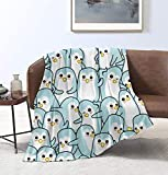 MYSTCOVER Funny Penguin Throw Blanket Super Soft Lightweight Luxurious Cozy Warm Fluffy Plush for Bed Couch Living Room 50'X40'for Kid