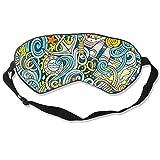 JDYU Máscara de ojos para dormir Dibujos animados dibujados a mano Garabatos náuticos Máscara de...