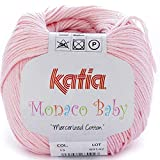 Lanas Katia MONACOBABY Ovillo de Color Rosa Cod. 15
