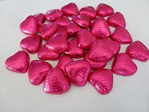 Cioccolatini x100 Con Carta D'Alluminio Rosa Acceso A Cuoricino Idea Regali Matrimoniali