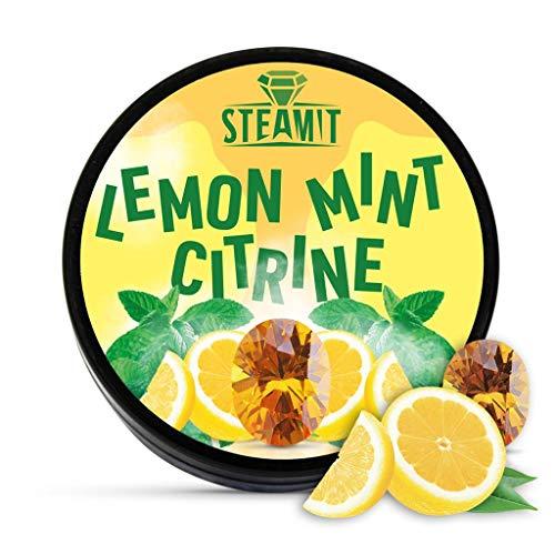 SteamIt Tabak Ersatz Dampfsteine - Shisha Steam Stones - nikotinfreier Tabakersatz für Wasserpfeifen (Lemon Mint)