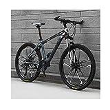 JXXU VTT 26 pouces 21 vitesses pour adulte - Vélo d'extérieur - Double frein à disque - Selle...