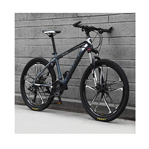 Mountainbike 26-Zoll-21-Gang-Fahrrad Für Erwachsene, Outdoor-Fahrräder Für Studenten, Hardtail-Fahrrad Mit Doppelscheibenbremse, Verstellbarer Sitz, MTB Country-Schaltrad Mit Hohem Kohlenst(Color:C.)