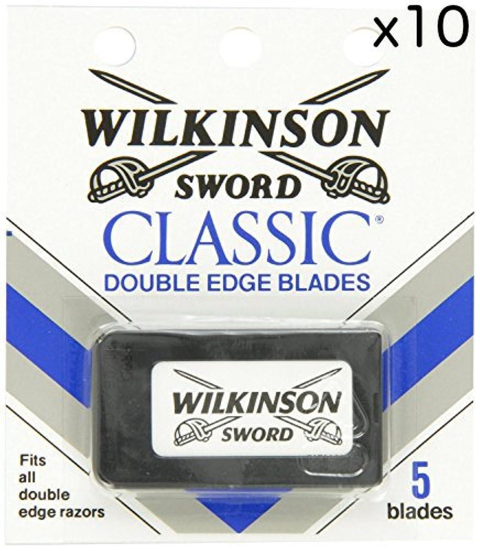 どんなときも強います不規則なWilkinson Sword ウィルキンソンソード 両刃替刃 50個入り (5 x 10) [並行輸入品]