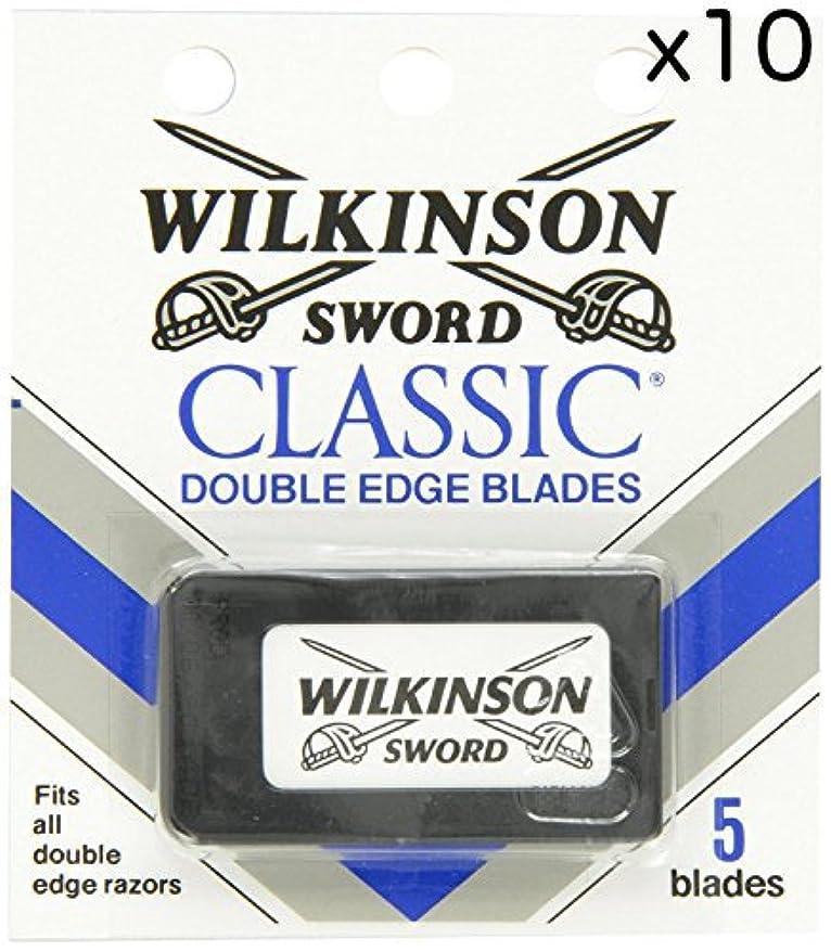 うまれたバインドジェームズダイソンWilkinson Sword ウィルキンソンソード 両刃替刃 50個入り (5 x 10) [並行輸入品]