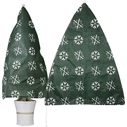 GeeRic Winterschutz für Pflanzen Winterschutz Kübelpflanzensack, beige, stark, 110 x 90 cm