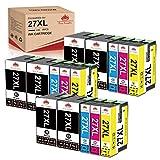 Toner Kingdom Compatible para Epson 27XL 27 Cartuchos de Tinta de Repuesto para Epson Workforce WF-7720 WF-7620 WF-7110 WF-3640 WF-7610 WF-7210 WF-7715 WF-7710 WF-3620