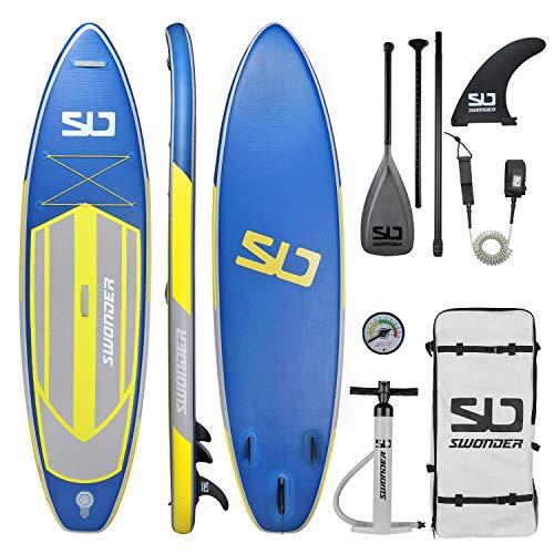 Swonder Unisex-Adult 320cm81cm i-SUP aufblasbares Stand Up Paddle Board Set, Glühwürmchen, 320cm 81cm 15cm