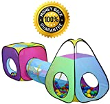 Hide-n-Side 3 Pack Children Play Tunnels Toy, Outdoor & Indoor Play Tent Tunnel, Playhouse Kids Pop up Tunnels, Boys and Girls Tent for Kids Tunnels