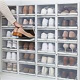 Cajas para zapatos, 3 unidades, almacenamiento para zapatos, fácil almacenamiento, de plástico, apilables, multiusos, caja transparente