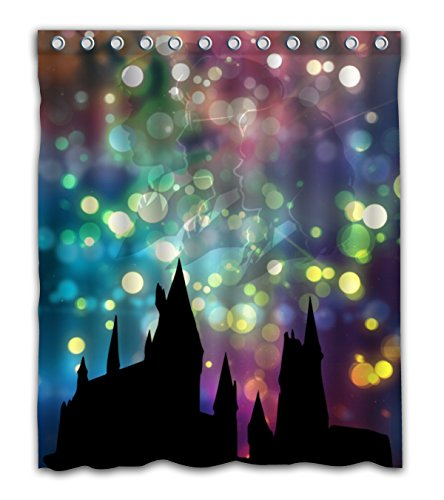 delean Custom Hogwarts Schule für Hexerei & Zauberei Stoff Wasserdichten Duschvorhang Bedruckt für Badezimmer Dekoration 152,4x 182,9cm