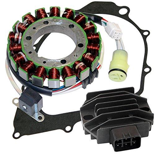 Caltric Stator & Regulator Rectifier W/Gasket Compatible With Yamaha Raptor 350 Yfm350R 2004-2013