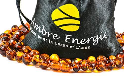 Collar de Ambar Natural - Unisex, 46-47 cm. De la Máxima Calidad Certificado Genuino Collar de Ámbar Báltico/Rápido Entrega / 100 Días de Garantía de Devolución de Dinero!