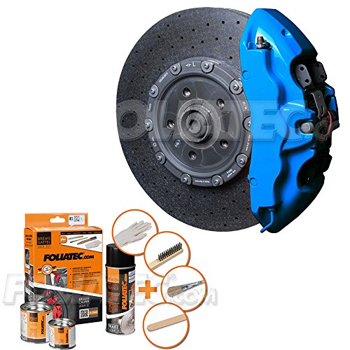Foliatec 2188 Bremssattellack GT Blau Motorlack Set für 4 Bremssattel Reiniger