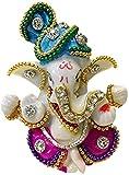Multicolored Stone God Ganesha Lord Elephant Home Decor Car Dashboard Idol Gift Statue