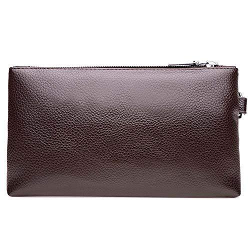 Leren clutch Bag handtas polshorloge met ritssluiting voor het werk/reisportefeuille voor mannen business-schoudertassen mobiele telefoontasjes werktassen