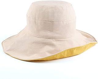 قبعة شمس Wxcgbtym ، قبعة دلو ، قبعة شمسية الصيف للنساء الرجال في الهواء الطلق قبعة الصياد للجنسين شاطئ الشمس قبعة (اللون: أ)