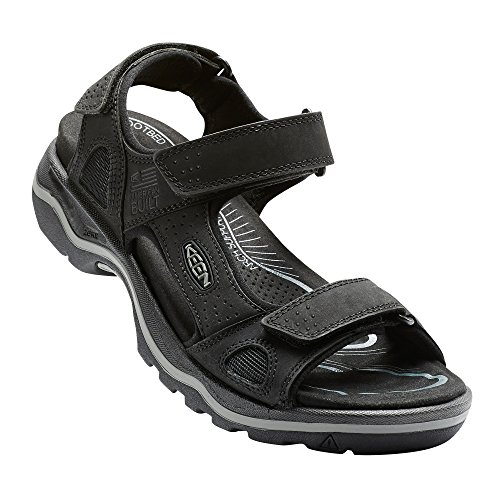 Keen KEEN Herren Rialto 3 Point Sandalen Trekking- & Wanderschuhe, Schwarz (Black/neutral Gray Black/neutral Gray), 45 EU
