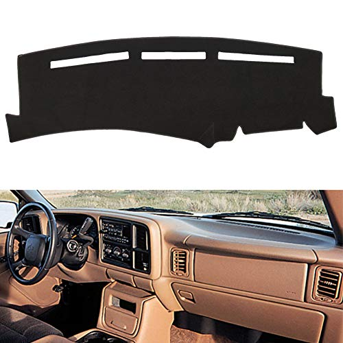 HanLanKa Dashboard Cover for Chevrolet Silverado 1500 2500 3500 1999-2006 Avalanche Chevy Tahoe Suburban GMC Sierra Yukon Dash Cover Mat(Premium Carpet, Black)