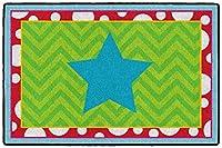 "Flagship Carpets coordintg。SillyマットSeatingラグ–36""長さX 24インチ幅–マルチカラー"