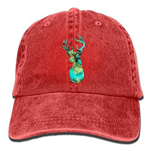 dingjiakemao Galaxy Deer Head denim Hat verstelbare unisex schattige baseballcap