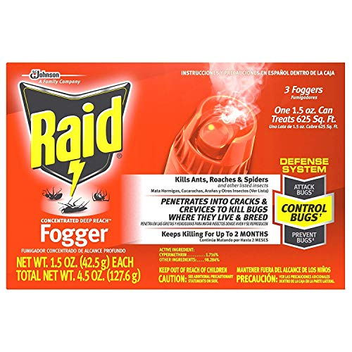 Raid Concentrated Deep Reach Fogger 1.5 Ounce (Pack of 1)