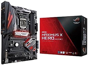 ASUS ROG Maximus X Hero LGA1151  Intel 8th Gen  DDR4 DP HDMI M.2 Z370 ATX Gaming Motherboard with onboard 802.11ac WiFi Gigabit LAN and USB 3.1