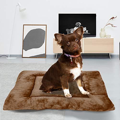 BCASE Cama Perro, Cama de Perros Grandes, Cama para Perros, Cama para Mascotas Desmontable y Extraíble Lavable 45x60 cm(S, Marrón Oscuro)