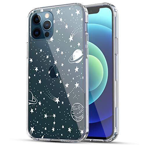 iPhone 12 Case, iPhone 12 Pro Case, RANZ Anti-Scratch Shockproof Series Clear Acrylic + TPU Bumper Protective Case for iPhone 12 / iPhone 12 Pro (6.1 inch) [2020 Released] - Universe