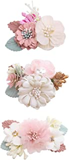 Flower Hair Clips Set-Cherrboll 3pcs Floral Hair Bow...