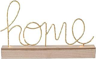 Lámpara de mesa LED inglés con letra HOME de metal creativa, lámpara de mesa baja de madera, luz romántica, boda, decoración de accesorios de fiesta de Navidad