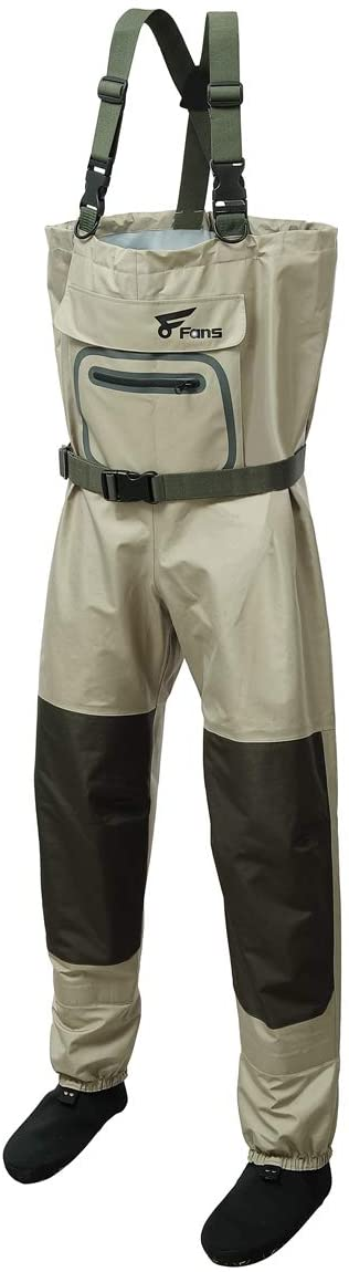 El Paso Mall 8 Fans Breathable Chest Wader Arlington Mall for 3-Ply Stocking Foot Men D 100%