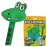 Inflatimals Animales inflables - Cocodrilo de Deluxebase. Juguete Inflable Gigante con diseño de Animal. Excelente Regalo para niños o como artículo Decorativo en Fiestas Infantiles