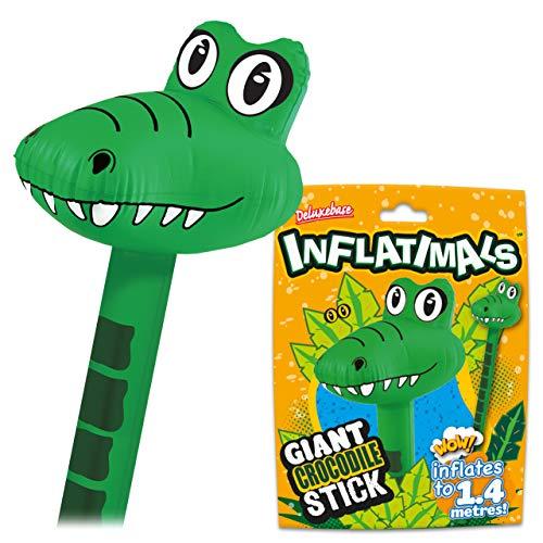 Inflatimals Animales inflables - Cocodrilo de Deluxebase. Juguete Inflable Gigante con diseo de Animal. Excelente Regalo para nios o como artculo Decorativo en Fiestas Infantiles