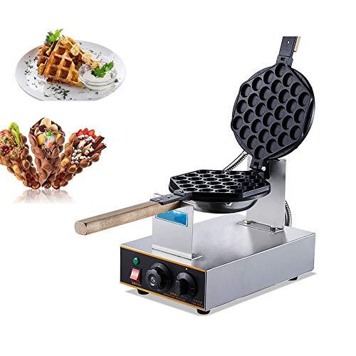 ZOUJUN Waffeleisen for Gewerbe Catering Kitchen Edelstahl elektrischen Ei-Waffel-Hersteller Non-Stick Pan Waffel Grill Ei Puff-Maschine Vollautomatische Scones Maschine
