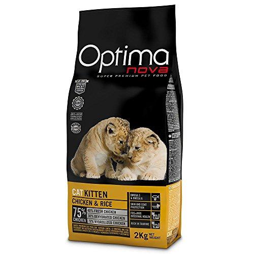 Optima Nova - Pienso para gatos kitten pollo y arroz