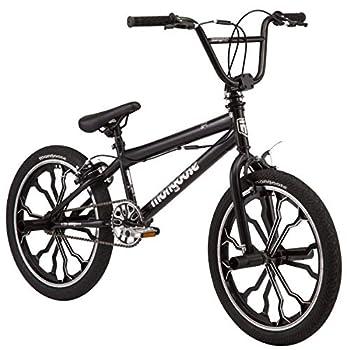 Mongoose Rebel Kids BMX Bike 20-inch mag Wheels Ages 7-13 Black