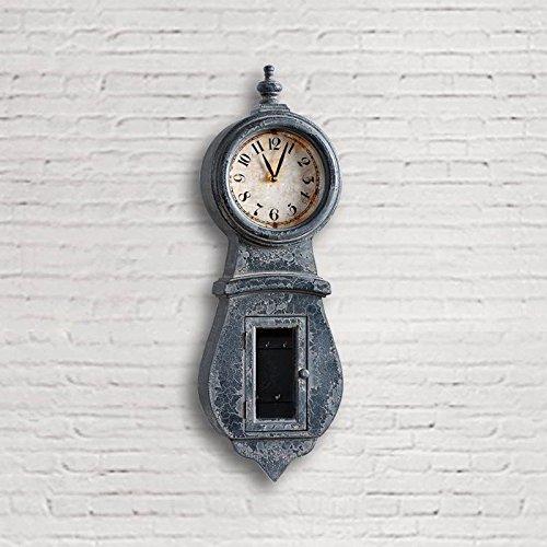 Dialma Brown - Orologio Realizzato In Legno Di Colore Nero Anticato Con Piccolo Vano Portachiavi