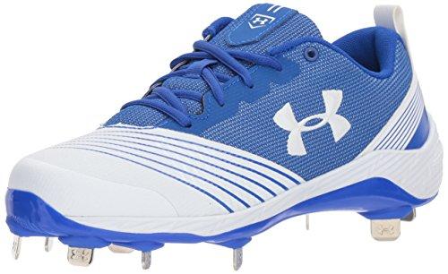 Under Armour Women's Glyde ST Softball Shoe, White/Team Royal, 7 M US