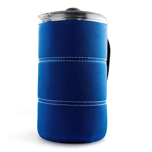 GSI Outdoors, 30 Fl Oz JavaPress, French Press Coffee Mug, Superior Backcountry Cookware Since 1985, Blue