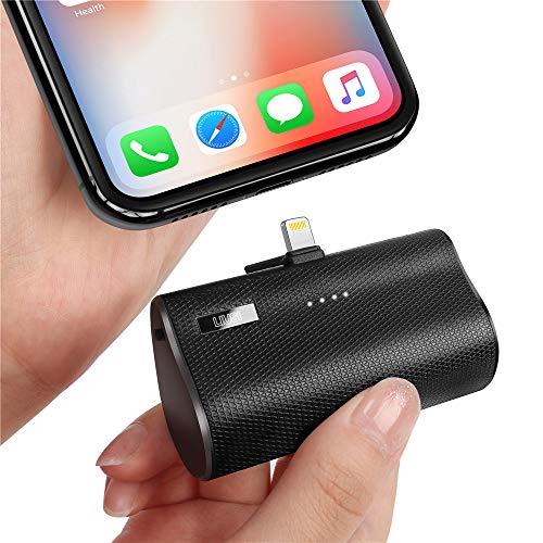 LIUSI 5000mAh Mini Power Bank Handy Klein Tragbar Phone Ladegerät Externer Akku mit Stecker für iPhone XR X XS 11 Pro Max 5 5S 6 6S 7 8 Plus SE…
