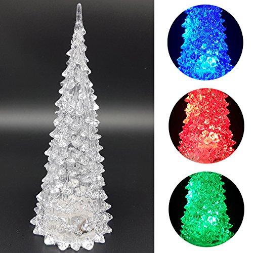 LED Acryl Weihnachtsbaum Farbwechsel Tannenbaum Christbaum Weihnachten (22,5cm)