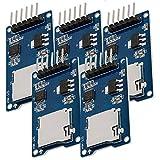 AZDelivery 5 x Modulo Lettore SPI Reader Micro Scheda SD TF Memory Card Shield per Arduino con eBook