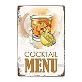 ivAZW Signe Étain Affiche Murale Métal Sweety Foods Boissons Menu Pub Bar Club Art Décoration Murale Vintage Plaque Peinture 20X30 Cm 7