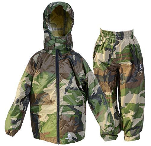 Dry Kids Chaqueta y pantalón Conjunto Verde Camuflaje 2 años