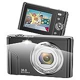 Appareil Photo numérique Vnieetsr, 1080P Full HD 36 mégapixels Zoom 16X Appareil Photo Compact avec écran LCD IPS Appareil Photo de Poche pour Enfants, étudiants, Adolescents, débutants