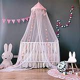 NO LOGO XW-WZ, Tente de rêve Princesse Vent Enfants Nordiques rêve bébé Berceau Berceau Insecte moustiques Net for lit bébé Pliant Filet de Berceau (Color : Pink)