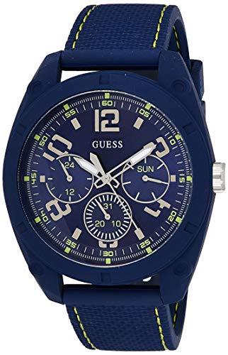 GUESS Reloj Analógico para Hombre de Cuarzo con Correa en Silicone W1256G3